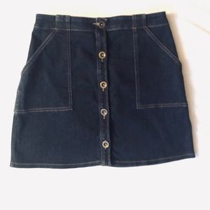 Banana Rebublic Denim Buttoned Up Skirt